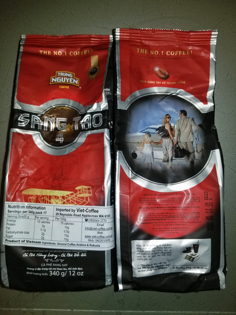 Creative 4 (Sang Tao) 340g Trung Nguyen Vietnamese style ground coffee by 4 pack with shipping