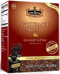 Gourmet Blend - King Coffee - 500g ground coffee   x 9 pack with shipping