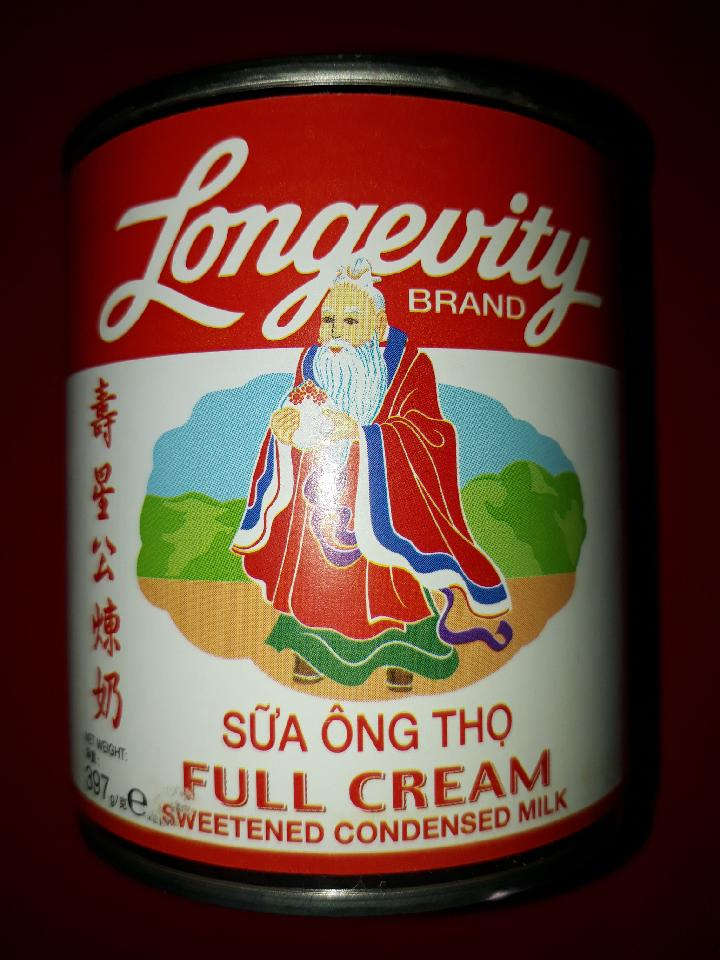 Longevity full cream condensed milk 3 pack of 397g