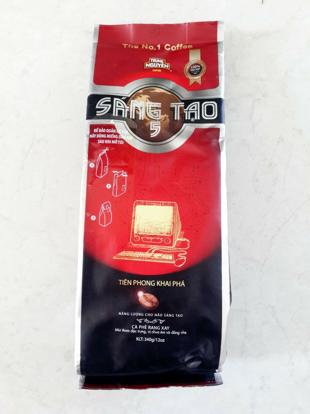 Creative 5  (Sang Tao) 340g x 8 pack including shipping Trung Nguyen Vietnamese style coffee