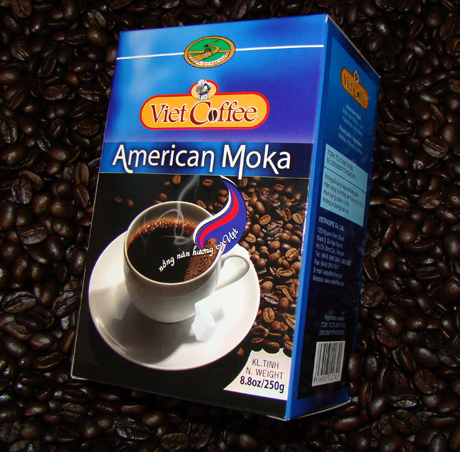 American Moka 250g ground taster, phin and espresso spoon with shipping