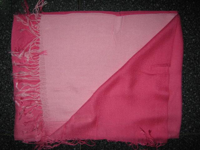 Pashmina shawl Pink with fade to light pink