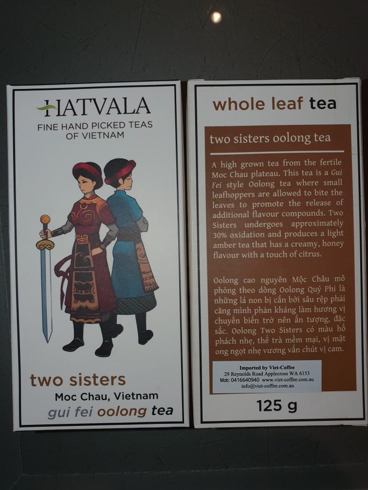Two Sisters Oolong Tea 125g  MOC CHAU, SON LA,  Hatvala