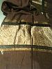 Silk scarf bronze  brown paisley