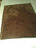Silk scarf bronze and brown fern pattern
