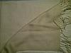 Pashmina shawl Tan fading to ivory