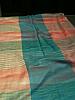 Pashmina shawl pink and aquamarine check