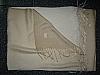 Pashmina shawl Ivory fading to white