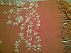 Pashmina shawl Orange with orange contrast embroidery
