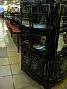 Corner unit Liquor Cabinet and mini bar -  inlaid mother of pearl, black laquer