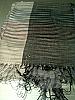 Pashmina shawl black grey and lilac 120x60