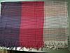 Pashmina shawl pink mauve off white stripe